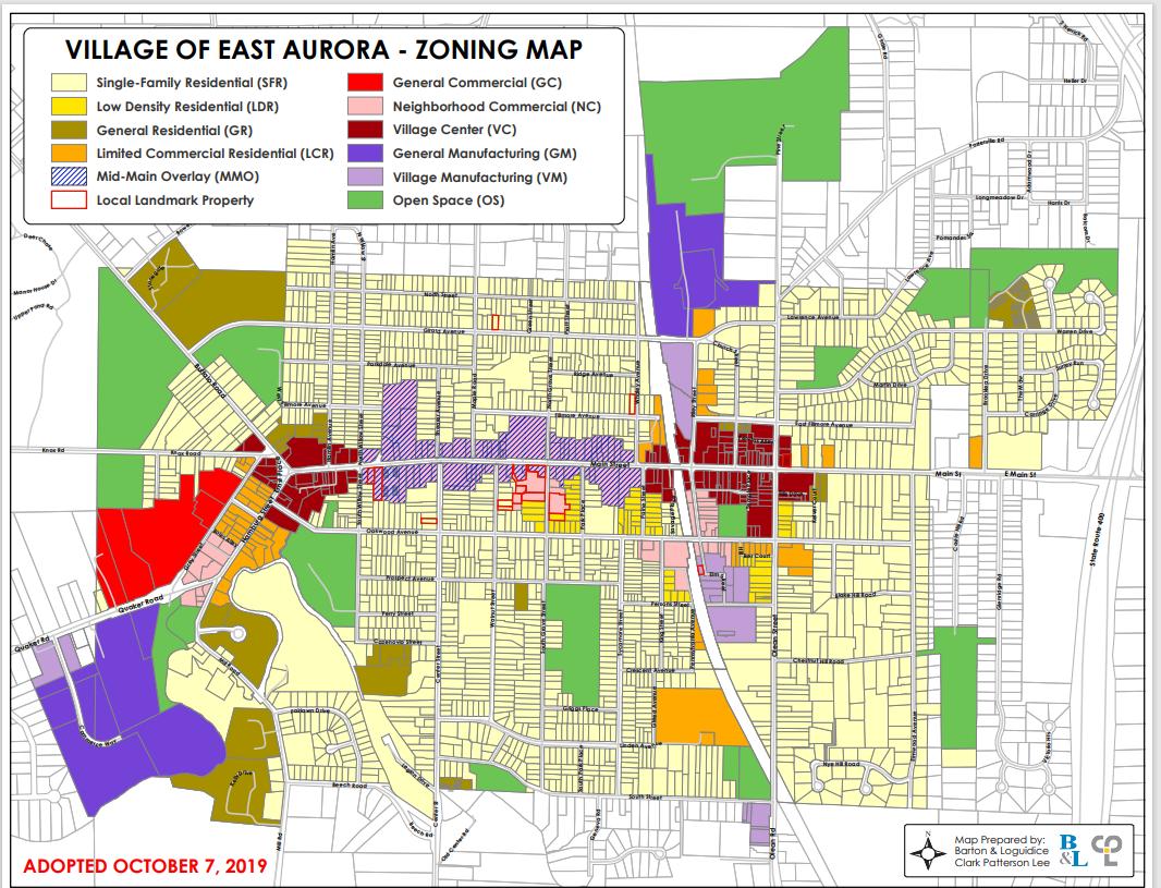 Village of east aurora map