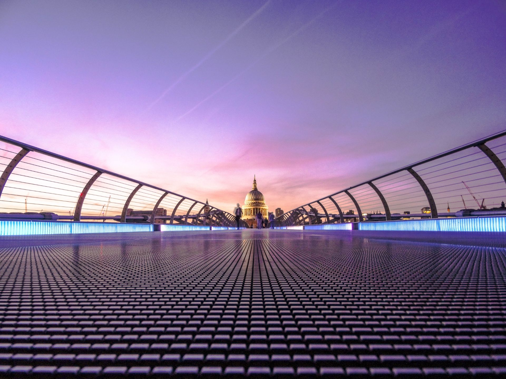 A bridge and St Pauls Cathedral