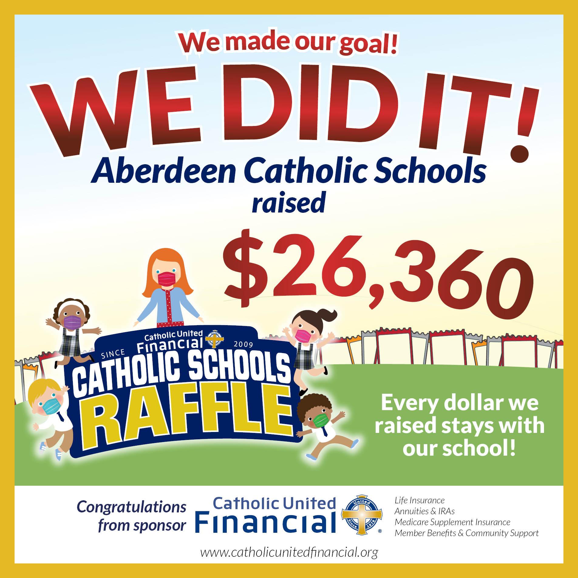 Catholic United Raffle - Thanks for helping us break our goal!
