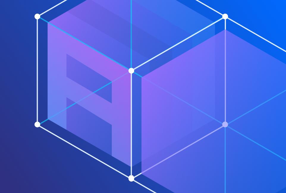 Assemble logo cube building blocks