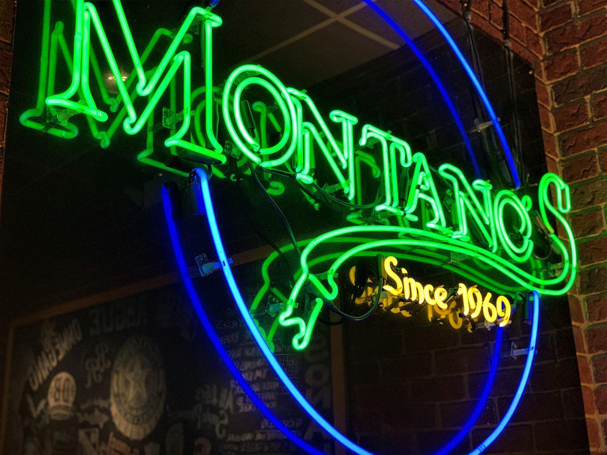 Montano's Neon Sign
