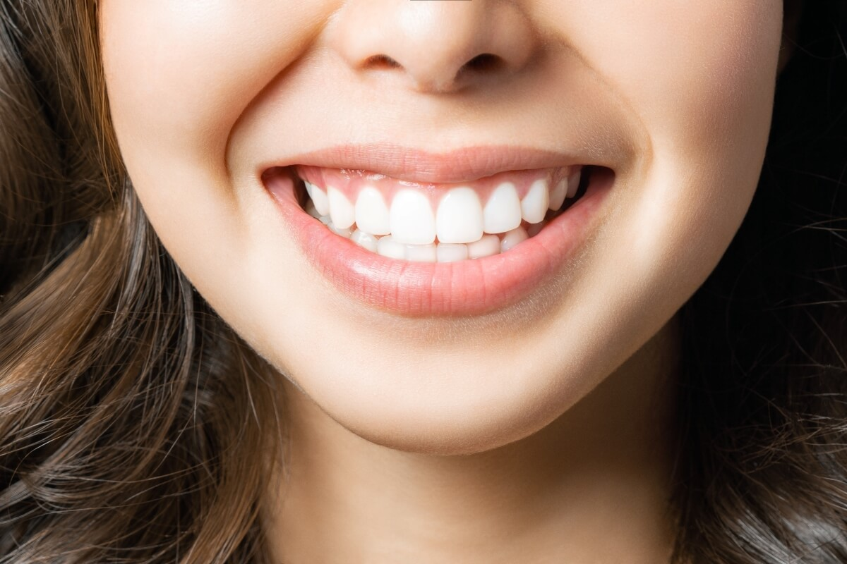 Close-up of a perfect smile