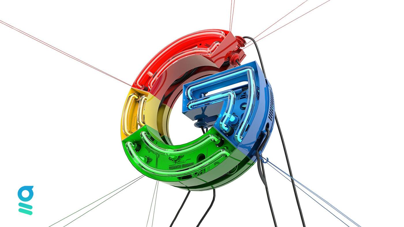 logo Google dans les airs