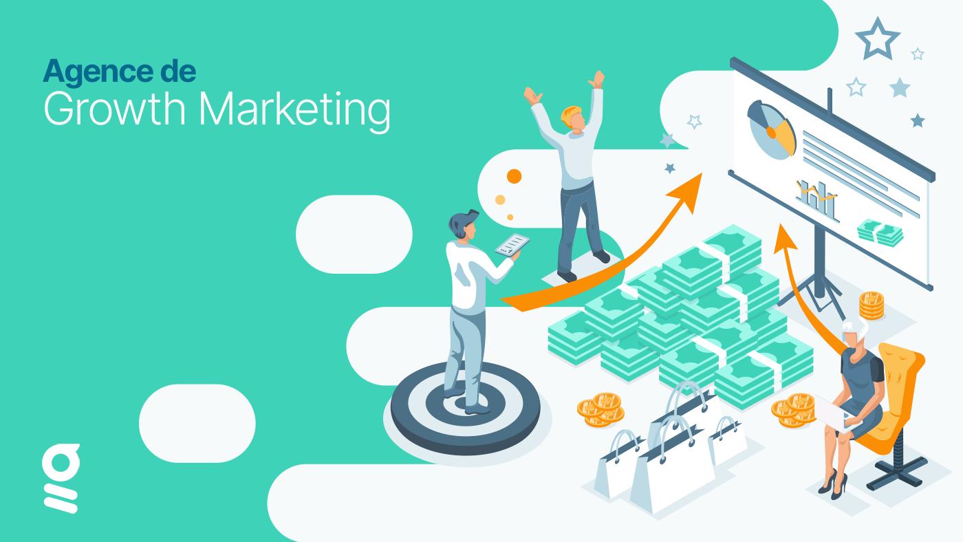 Une équipe travaillant dans une agence de growth marketing