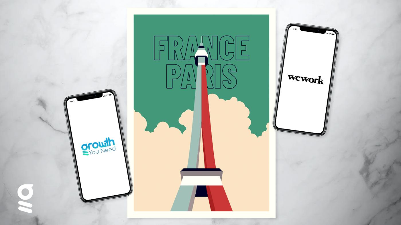 visuel de paris en france avec l'agence GrowthYouneed basée à Wework
