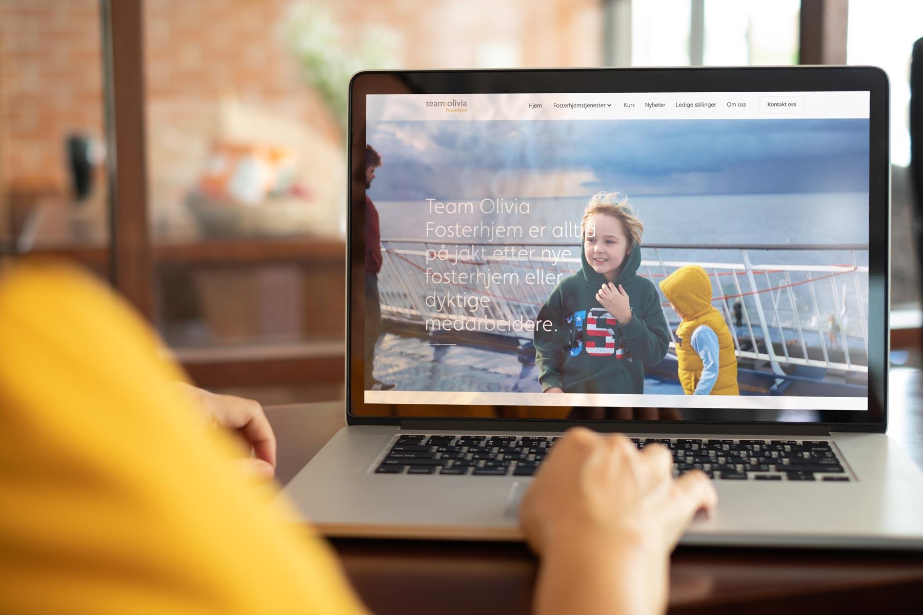 Nettsider og contentproduksjon for team olivia