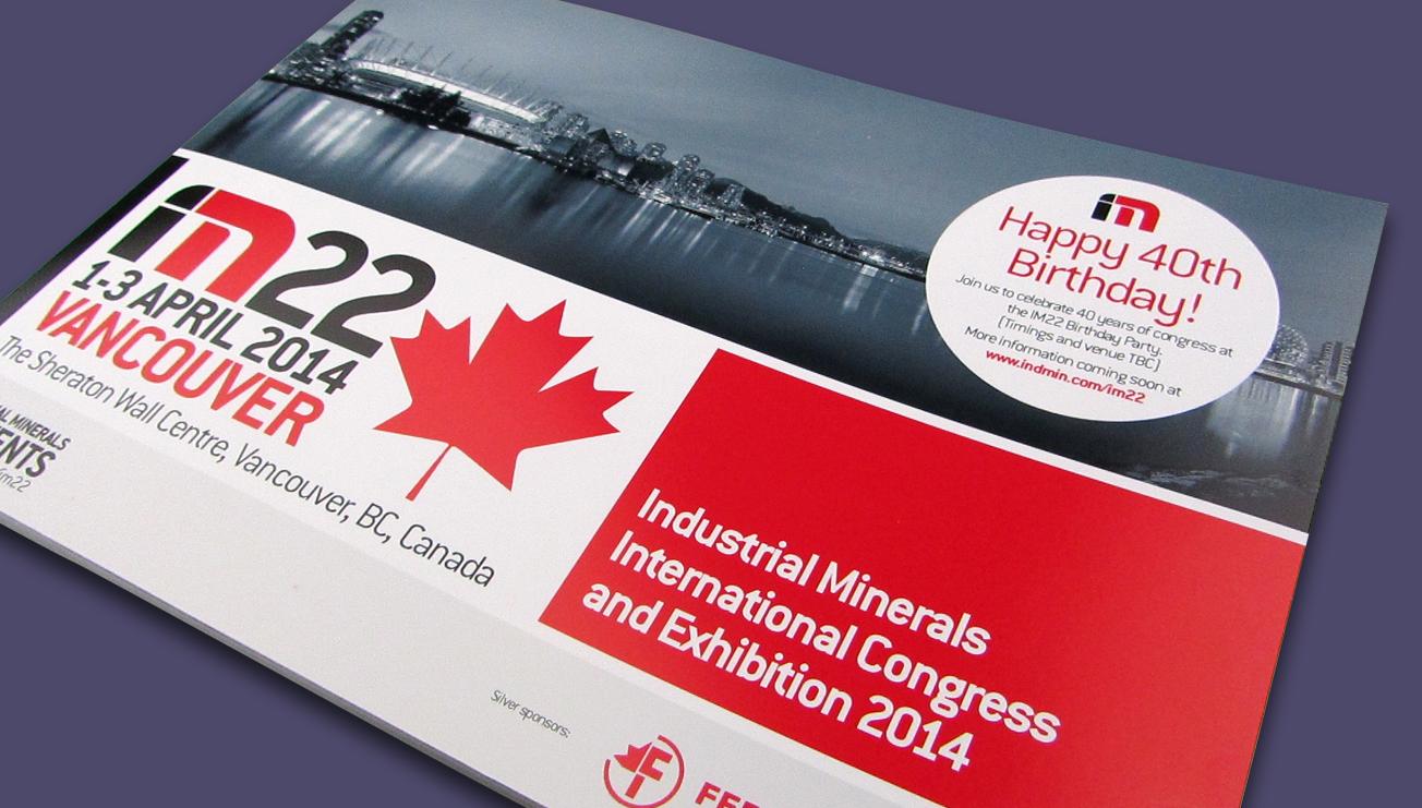 IM22 conference brochure design