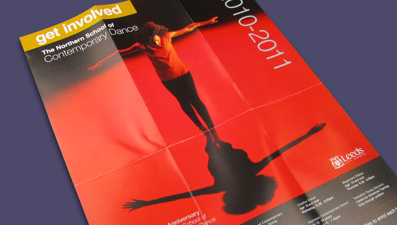 The Northern School of Contemporary Dance leaflet and poster design