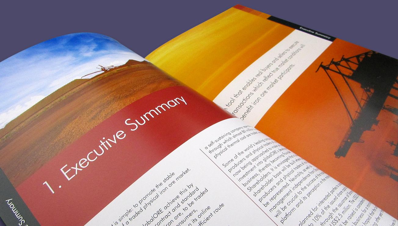 Global Ore annual report brochure design