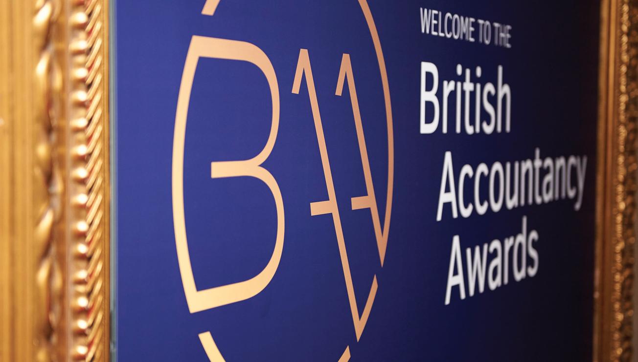 British Acccountancy Awards welcome signage