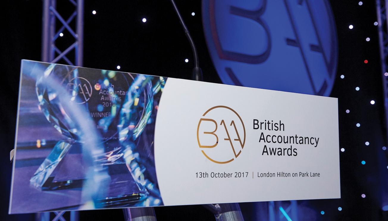 British Accountancy Awards Stage Graphics