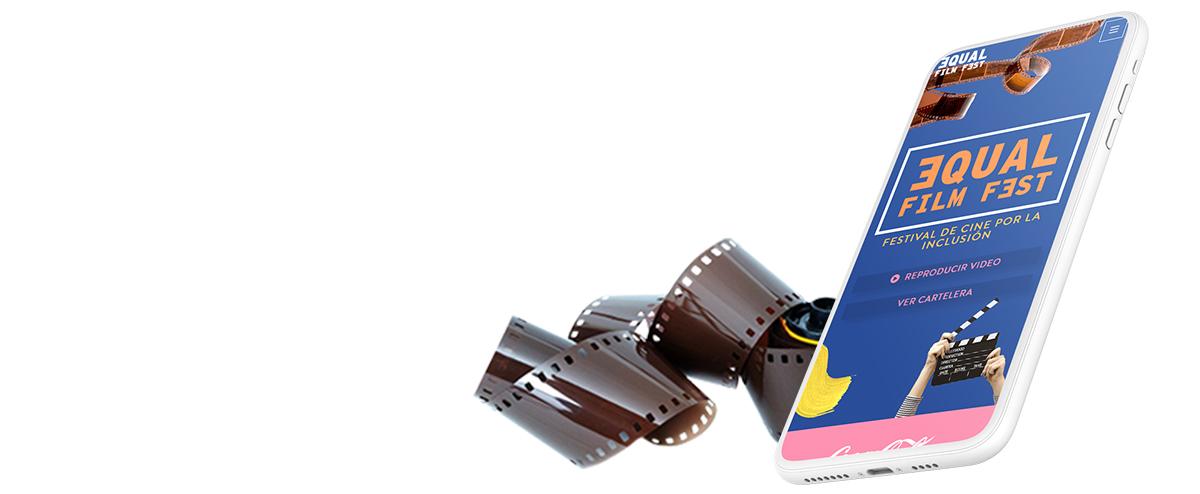 Esta Imagen ilustra de manera decorativa el proyecto Web Equal Film Fest