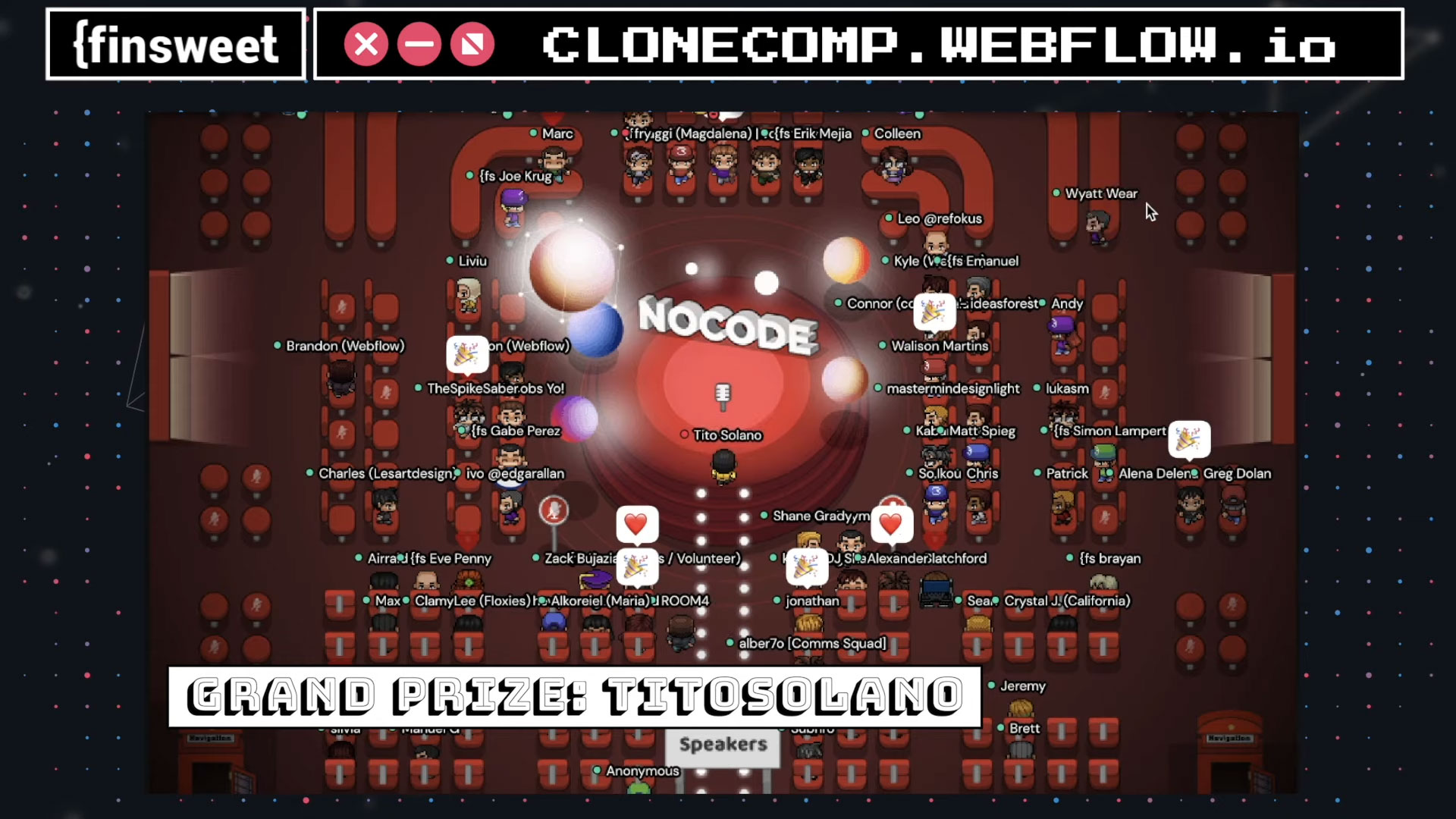 Webflow. Finsweet NoCode 2021 Gather