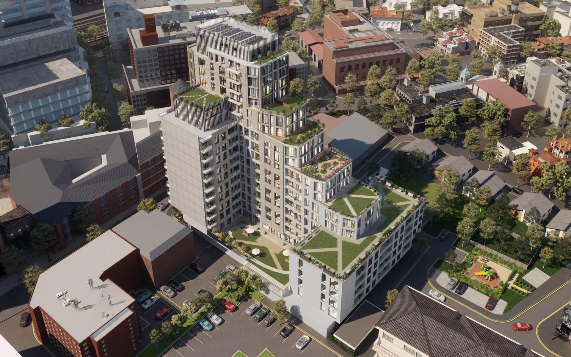 Westmede Premier Gateway Ariel Building