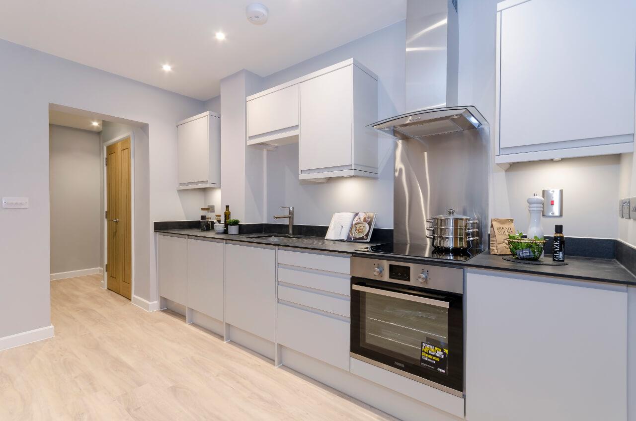 Saxon Gate Modern White Kitchen