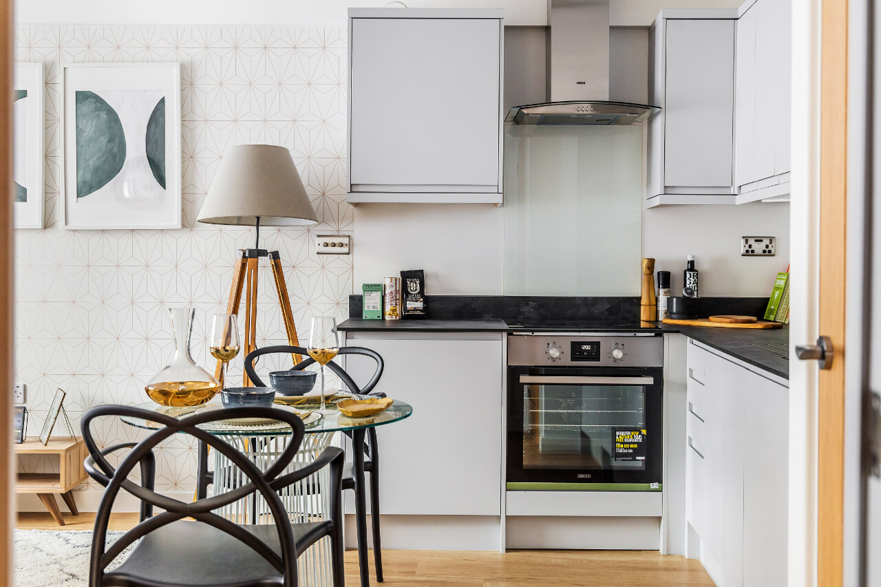 Spectrum House White Wood Kitchen