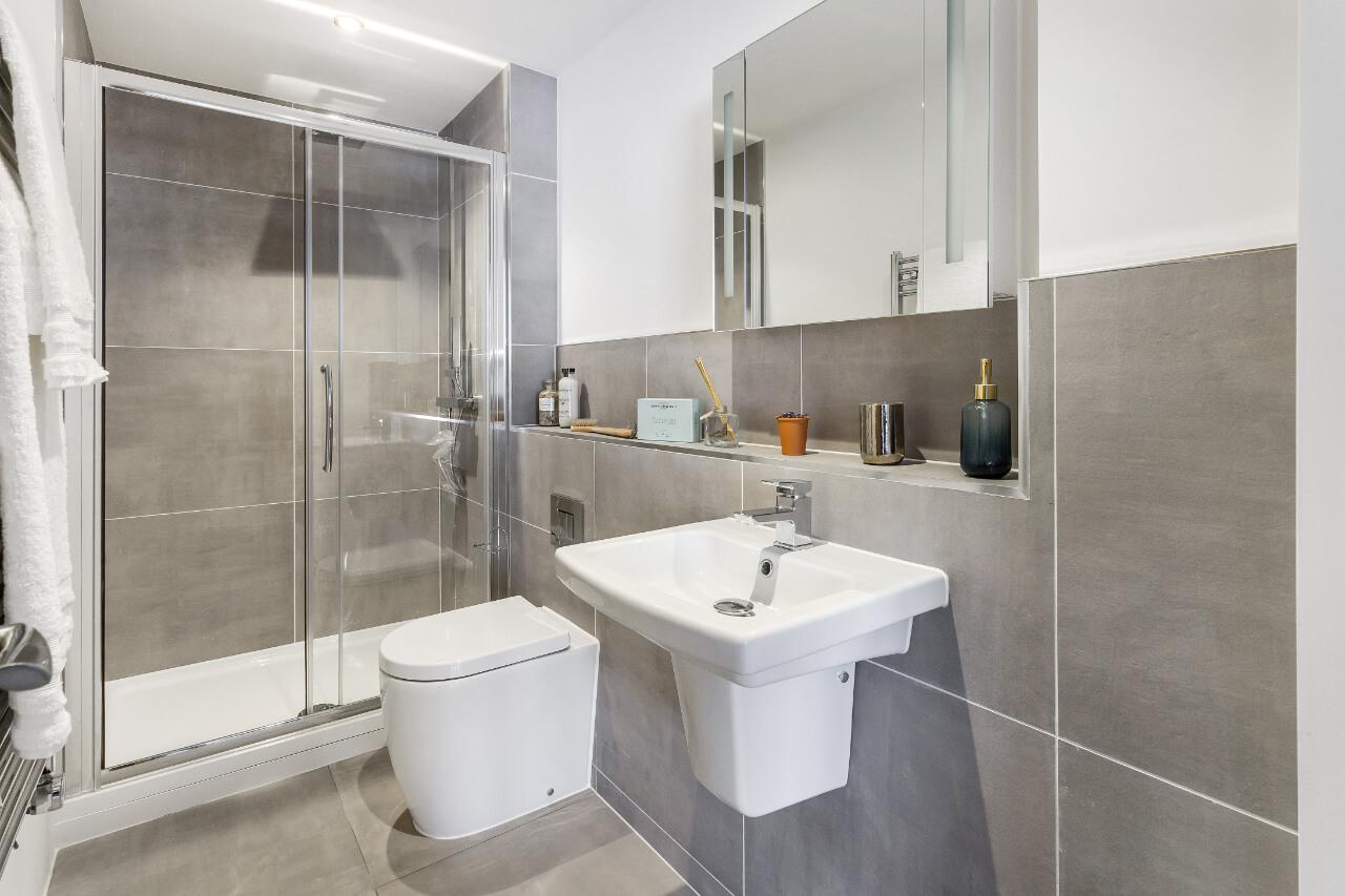 Spectrum House White Grey Bathroom