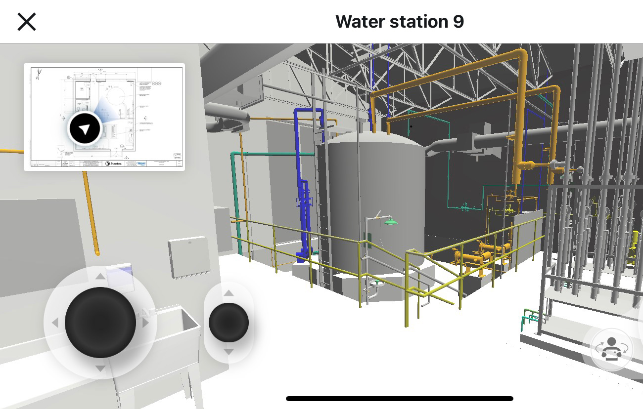 BIM drawing of industrial electrical system. 3d modeling service
