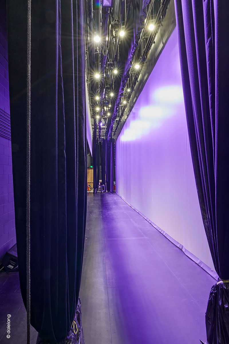 Picture of Brodniak Hall backstage