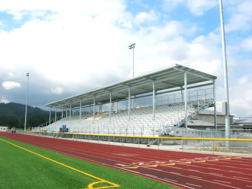 Picture of bleachers at Monroe High School Football Stadium