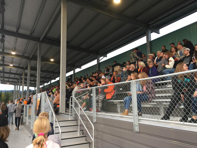 Aerial picture of Crowd at Granite Falls High School Tiger Stadium