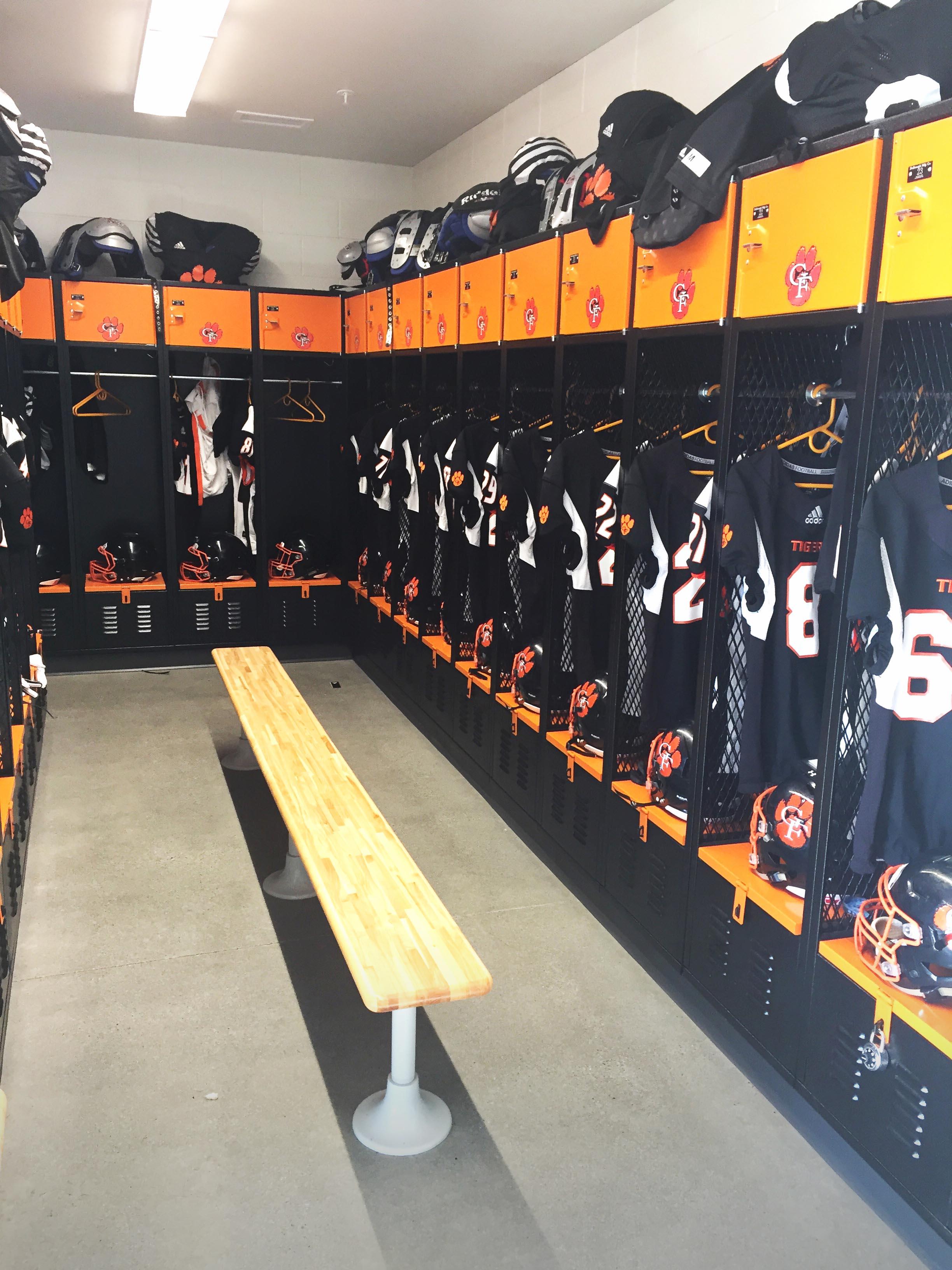 Aerial picture of Granite Falls High School Tiger Stadium Locker Room