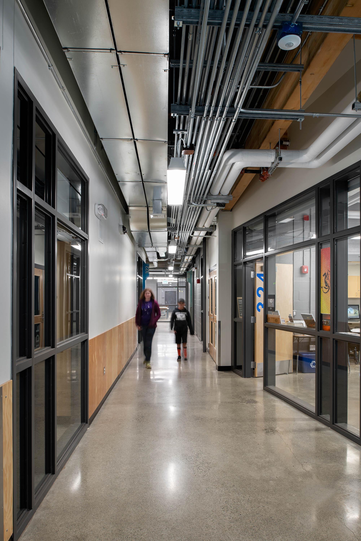 Photo of hallway at Granite Falls MS Steam Building