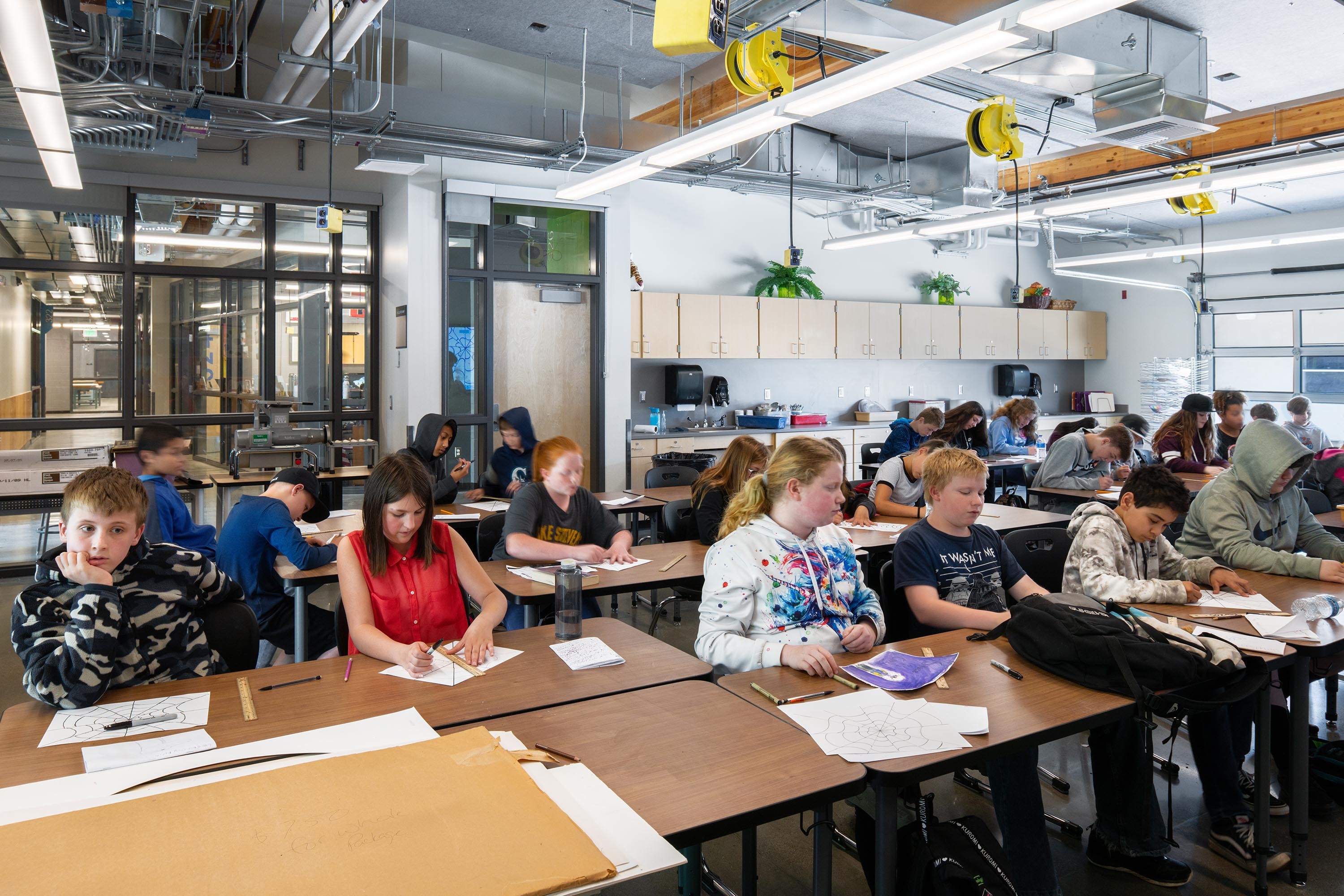 Photo of Classroom at Granite Falls MS Steam Building