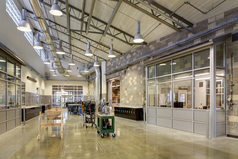 Photo of main hallway at Northwest Career & Technical Academy Marine Technology Center