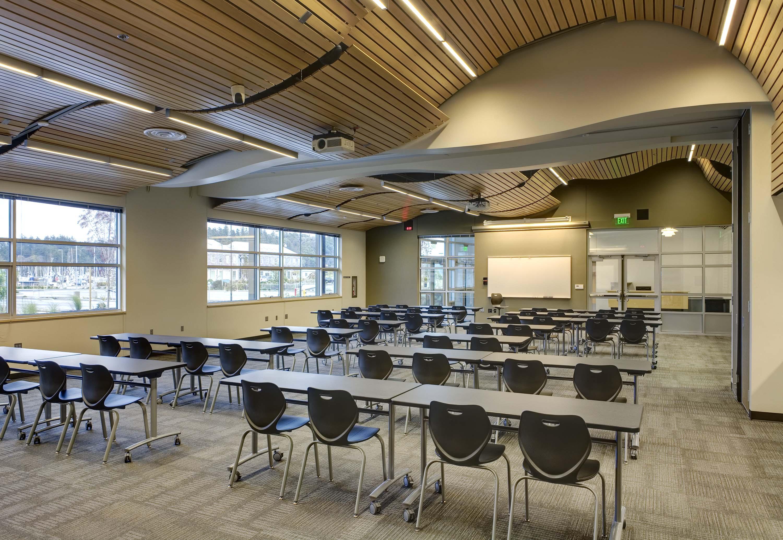 Photo of presentation room at Northwest Career & Technical Academy Marine Technology Center