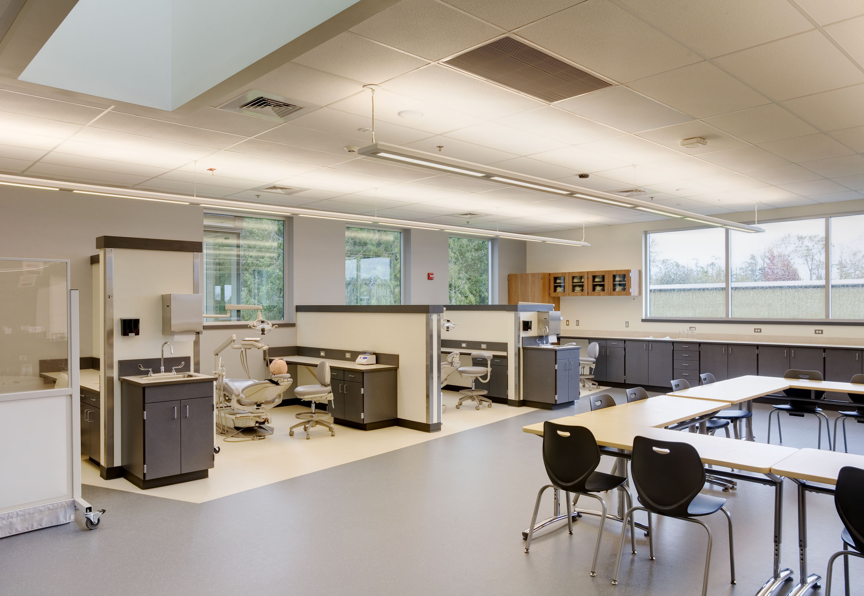 One of the medical classrooms, including full dental stations.