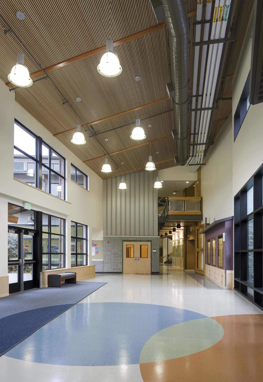 Interior photo of the main lobby.