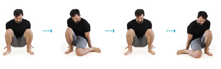 squatting internal rotation hip stretch