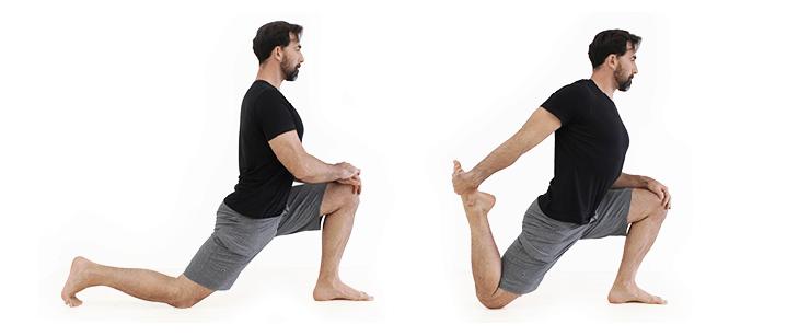 kneeling lunge hip flexors stretch
