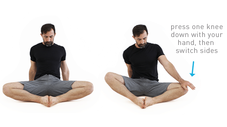 butterfly stretch for tight hips