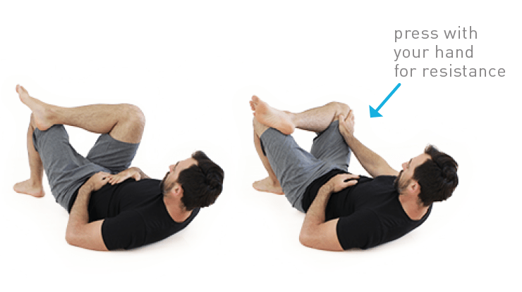 lying hip rotations for hip mobility