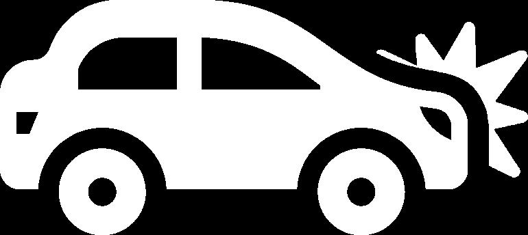 Car with bump icon