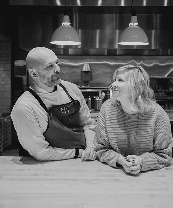 Chef Andrew Biggs and Laura Harlow Biggs