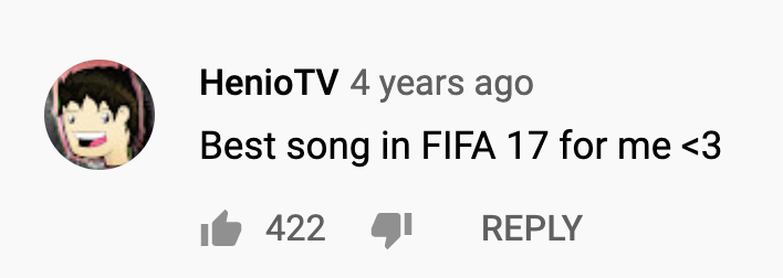 Best song in FIFA 17 for me <3