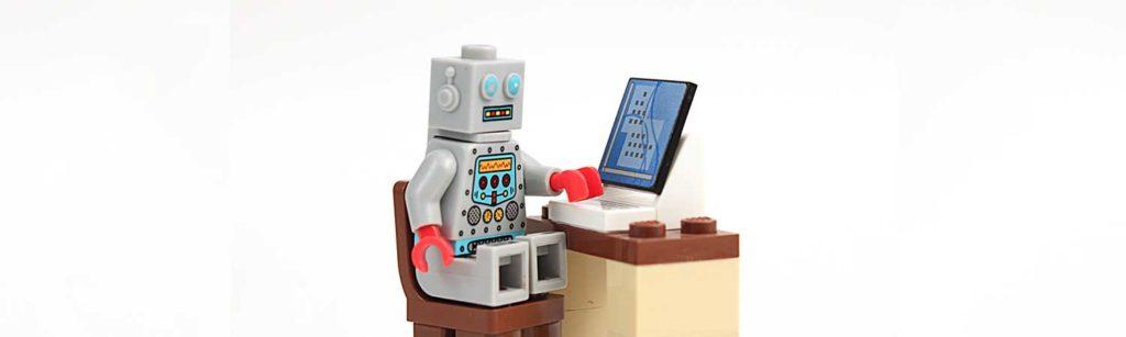 lego robot using computer