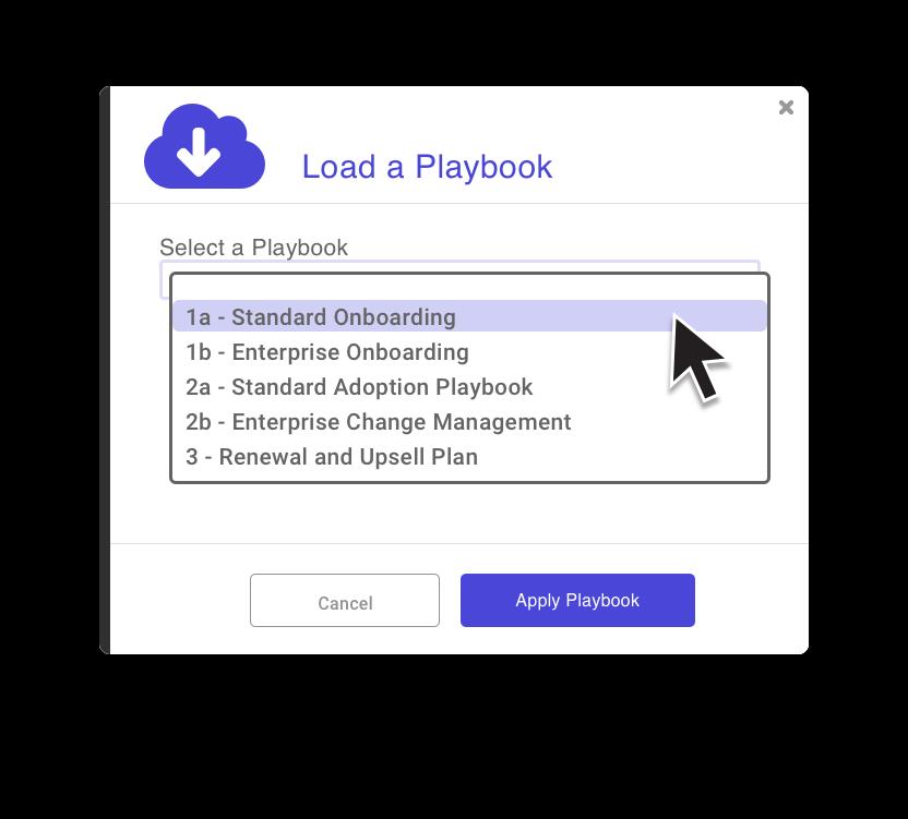 Screenshot of plan templates feature