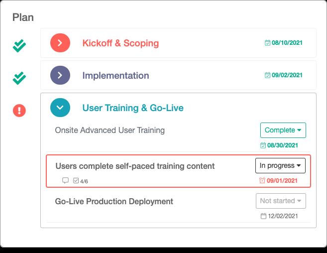 Screenshot of shared plans feature
