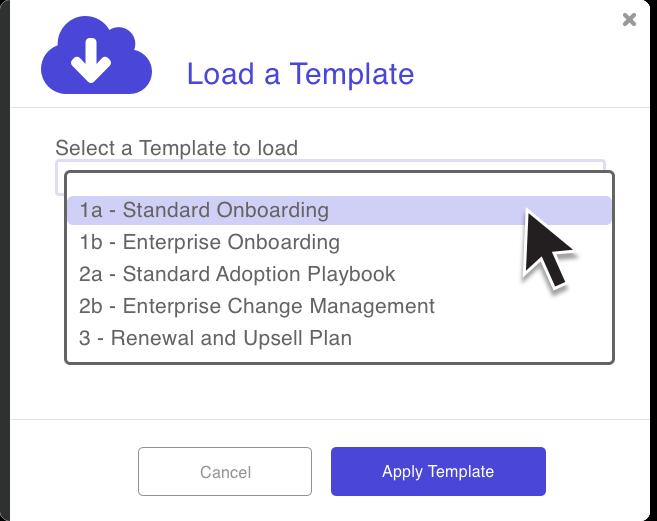 Screenshot of customer goal tracking
