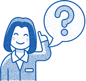Illustration for contact us enquiry form: peson asking a question