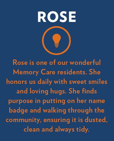 Rose, Bethesda Senior Living Communities Memory Care, CO