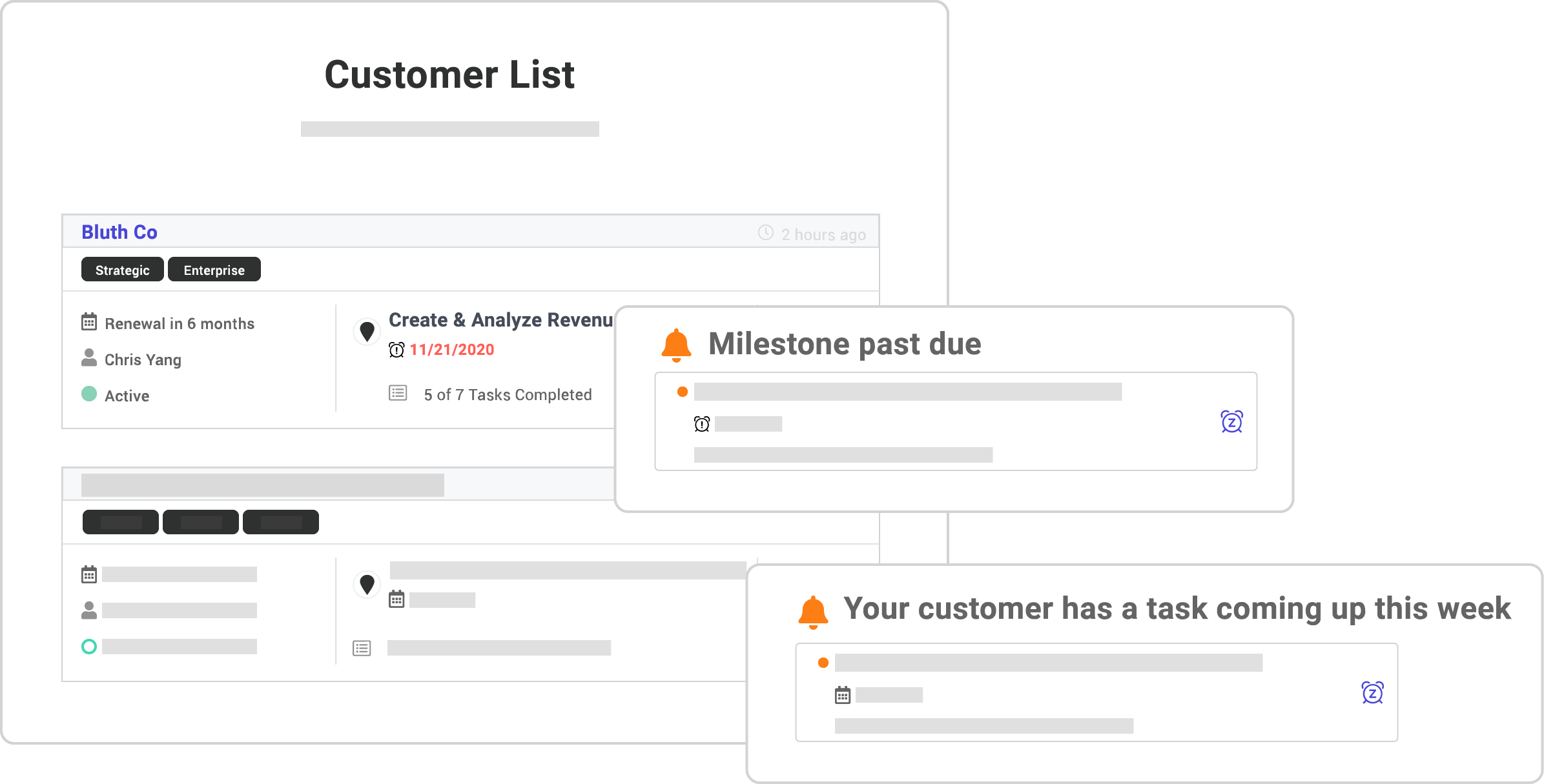 Screenshot of account management feature