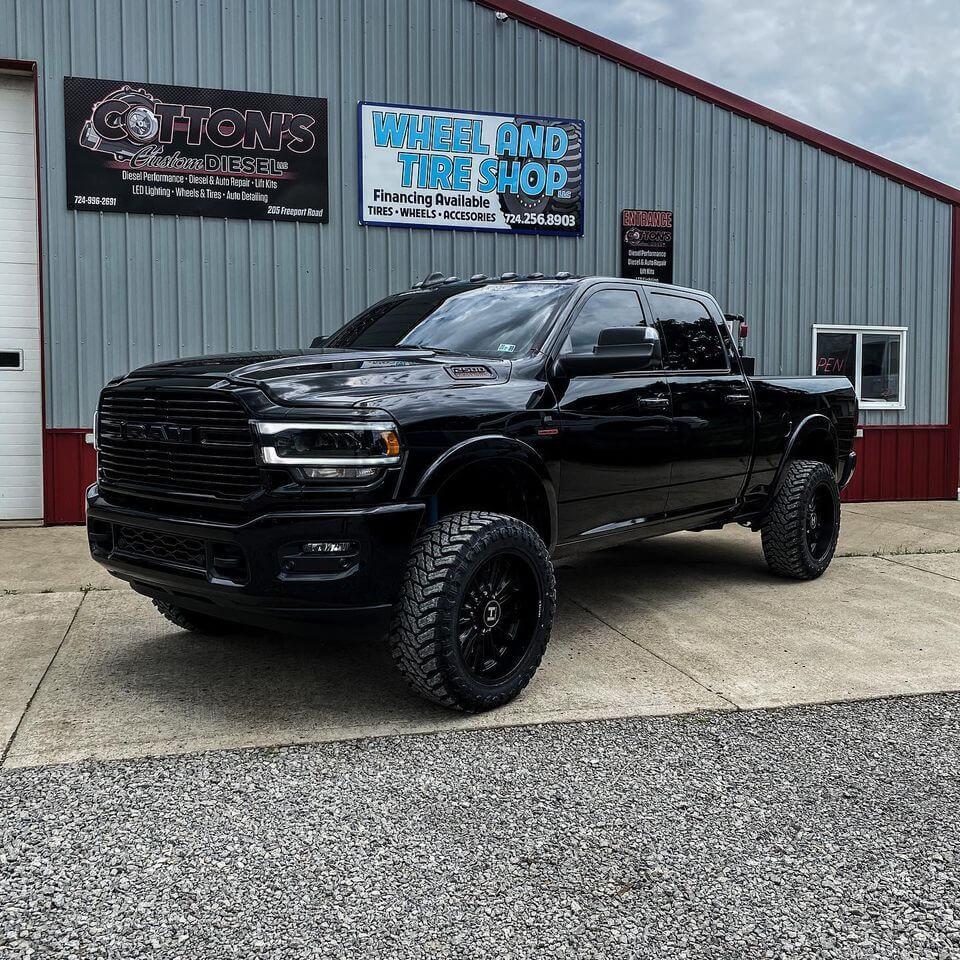 2018 Dodge Ram outside Cotton's Custom Diesel