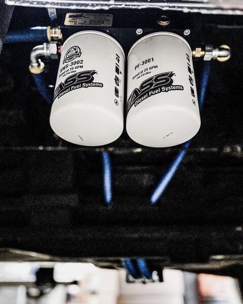 Fast Fuel Systems dual oil filter custom install