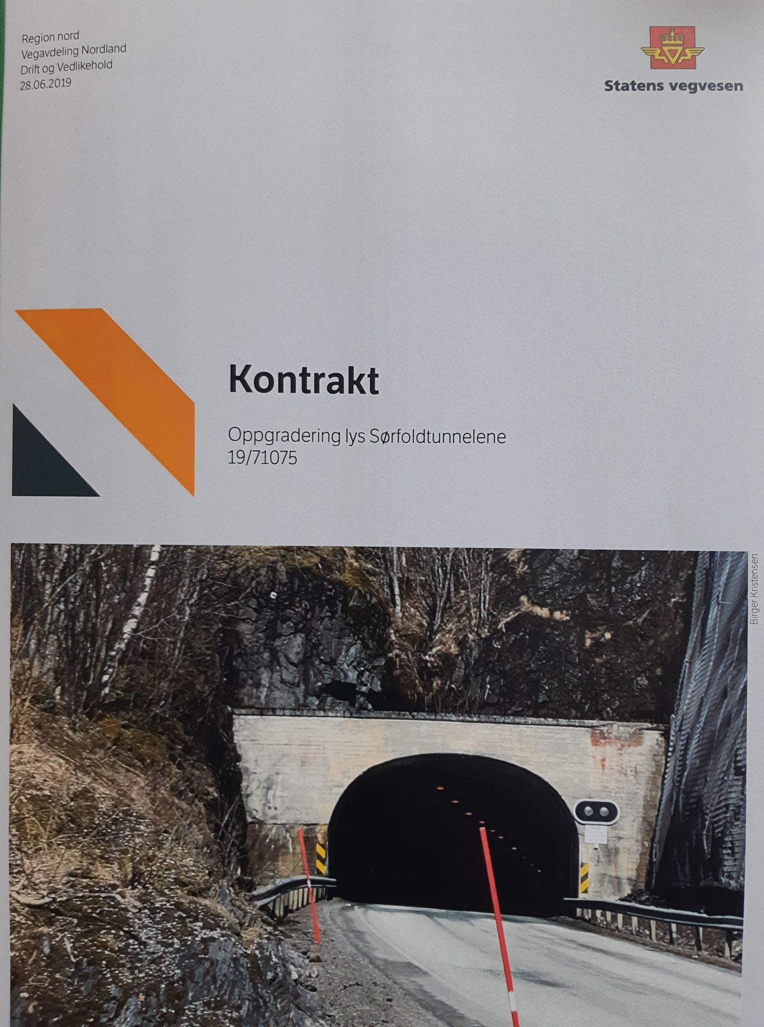Rehabilitering av tunnellene på E6 i Sørfold