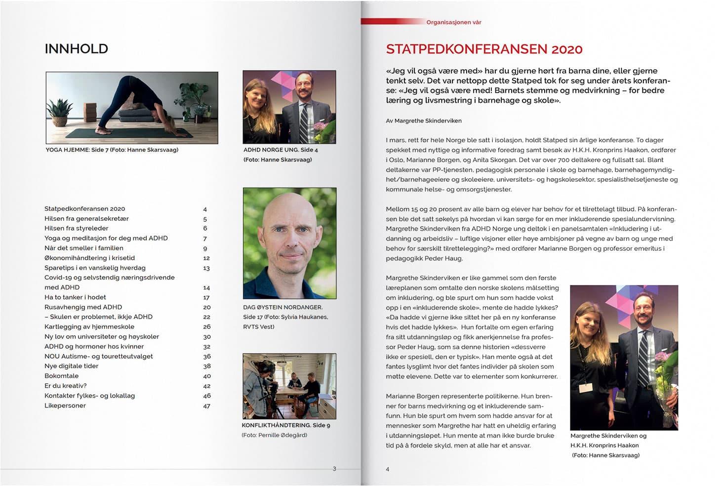 Et omslag som viser litt av innholdet i magasinet STÅ PÅ